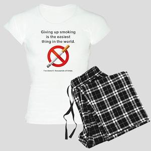 Giving Up Smoking Women's Light Pajamas