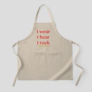 I wear I hear I rock Apron