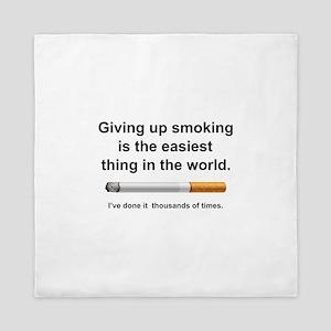 Giving Up Smoking Queen Duvet