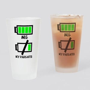Battery Life Drinking Glass