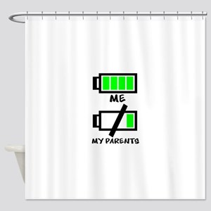 Battery Life Shower Curtain