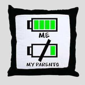 Battery Life Throw Pillow