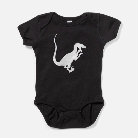 Velociraptor Silhouette Baby Bodysuit