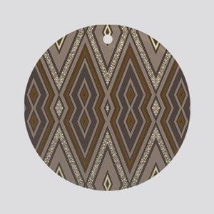 Aztec Earth Ornament (Round)