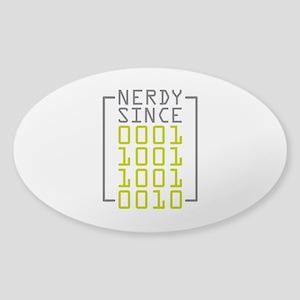 Nerdy Since 1992 Sticker (Oval)