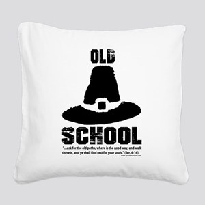 Old School Reformed Puritan Square Canvas Pillow
