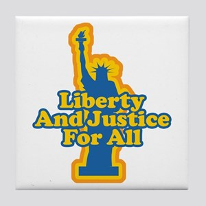 Liberty and Justice Tile Coaster