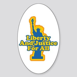 Liberty and Justice Oval Sticker