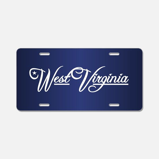 West Virginia State of Mine Aluminum License Plate