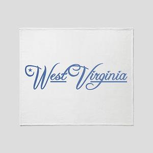 West Virginia State of Mine Throw Blanket