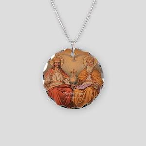 Holy Trinity Scutum Fidei Necklace Circle Charm