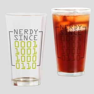 Nerdy Since 1986 Drinking Glass