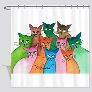 Cayo Stray Cats Shower Curtain