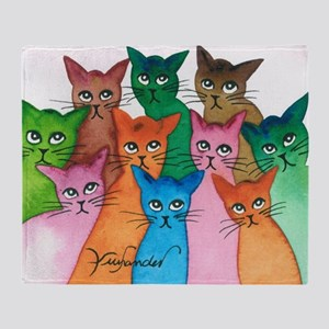 Cayo Stray Cats Throw Blanket