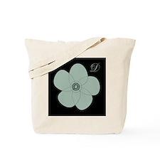 Vintage Green Flower Tote Bag