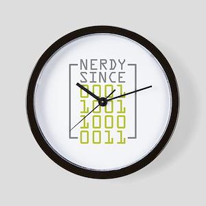 Nerdy Since 1983 Wall Clock