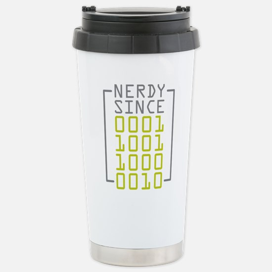 Nerdy Since 1982 Stainless Steel Travel Mug