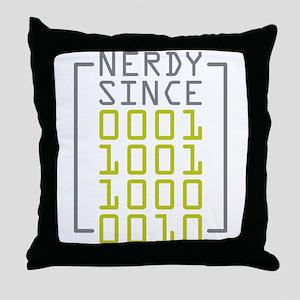 Nerdy Since 1982 Throw Pillow