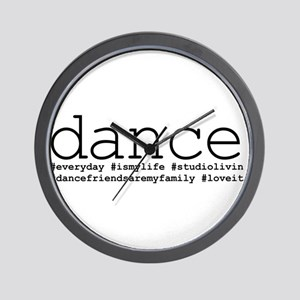 dance hashtags Wall Clock