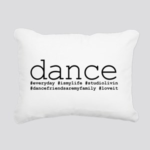 dance hashtags Rectangular Canvas Pillow