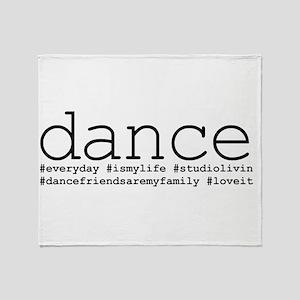 dance hashtags Throw Blanket
