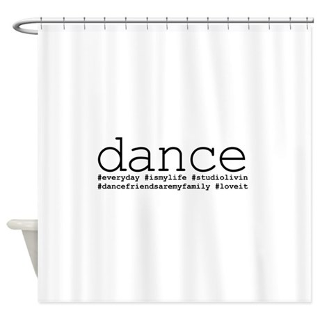 Dance hashtags shower curtain by dancethoughts for Bathroom decor hashtags