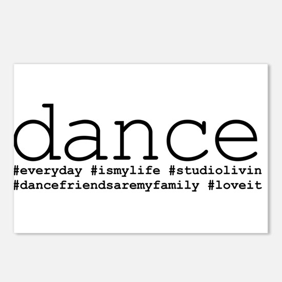 dance hashtags Postcards (Package of 8)