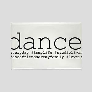 dance hashtags Rectangle Magnet
