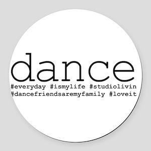 dance hashtags Round Car Magnet