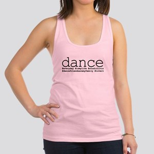 dance hashtags Racerback Tank Top