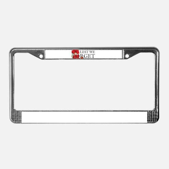 lest we forget License Plate Frame