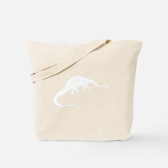 Diplodocus Silhouette Tote Bag
