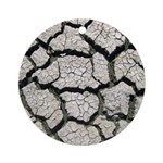 Cracked Mississippi River Ornament (Round)