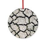 Cracked Mississippi River Ornament (Round)
