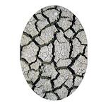Cracked Mississippi River Ornament (Oval)