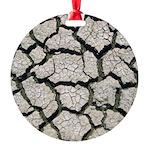 Cracked Mississippi River Ornament