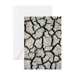 Cracked Mississippi River Greeting Cards