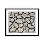 Cracked Mississippi River Framed Panel Print