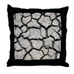 Cracked Mississippi River Throw Pillow