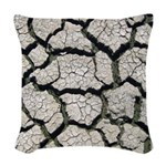 Cracked Mississippi River Woven Throw Pillow