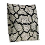 Cracked Mississippi River Burlap Throw Pillow