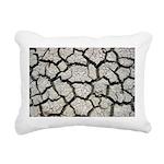 Cracked Mississippi River Rectangular Canvas Pillo