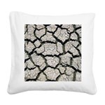 Cracked Mississippi River Square Canvas Pillow
