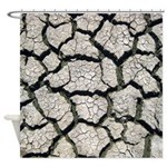 Cracked Mississippi River Shower Curtain