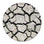 Cracked Mississippi River Round Car Magnet