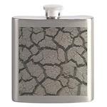 Cracked Mississippi River Flask
