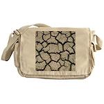 Cracked Mississippi River Messenger Bag