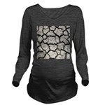 Cracked Mississippi River Long Sleeve Maternity T-
