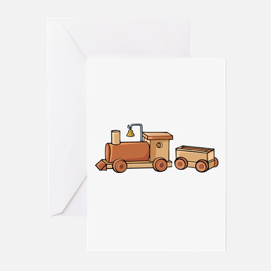 Wooden Train Greeting Cards (Pk of 10)