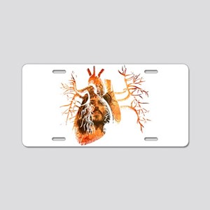 Jesus in Real heart Aluminum License Plate